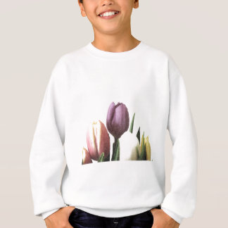 Floral Tulip flowers bouquet pencil drawing Sweatshirt