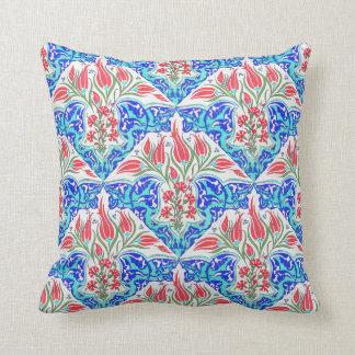 Floral Turkish Tile Design Throw Pillow