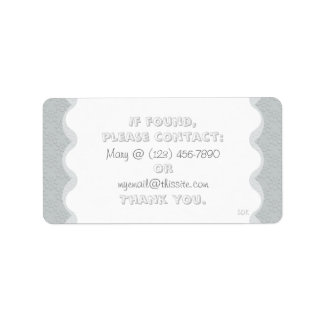 Floral U Pick Color/Lost & Found Personal Item Address Label