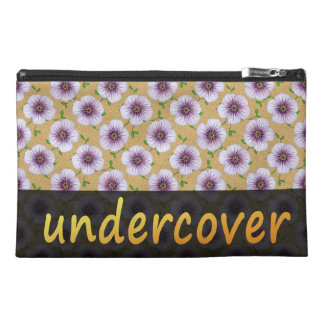 Floral Undercover Blue Flowers on any Colour Travel Accessory Bag