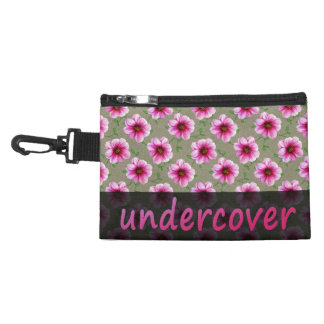 Floral Undercover Pink Flowers on any Colour Accessory Bag