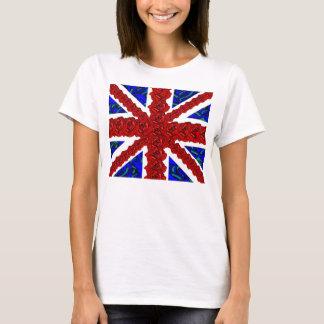floral union jack,cool unionjack,trendy union jack T-Shirt