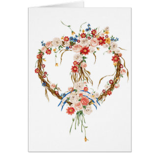 Floral Valentine Heart Note Card