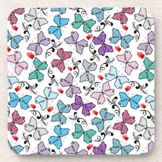 Floral Valentine Pattern Beverage Coaster
