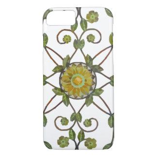 floral vine flower design pattern - green yellow iPhone 7 case