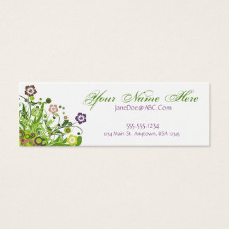 Floral Vines Mini Business Card