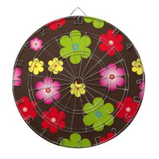Floral vintage background dart board