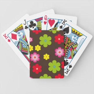 Floral vintage background poker deck