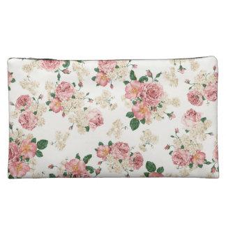 floral vintage cosmetic bag