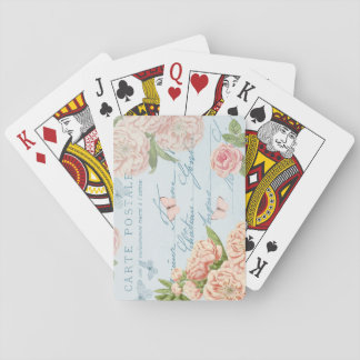 Floral vintage elegant playing cards w/ flowers