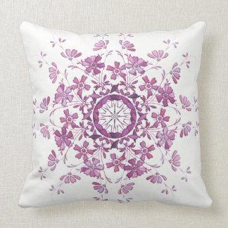 floral vintage element cushion