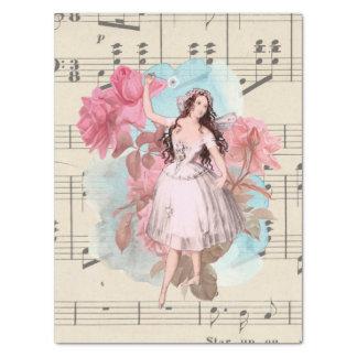 Floral Vintage Fairy Dancer Ballerina Sheet Music