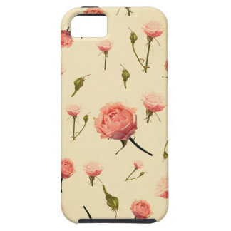 Floral vintage pink girly offwhite 1920s art deco iPhone 5 cases