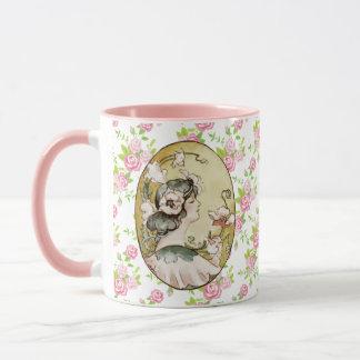 Floral Vintage - Pink Roses - Romantic Lady Mug