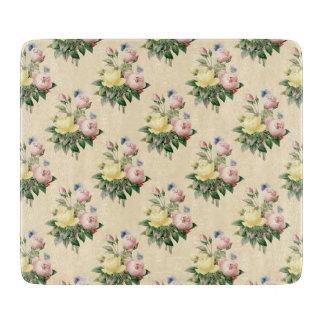Floral vintage rose flower pattern cutting board