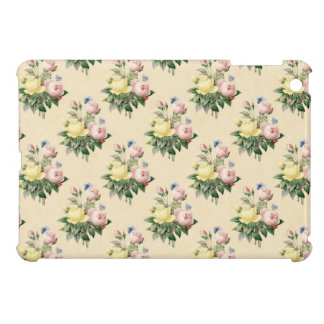 Floral vintage rose flower pattern ipad case