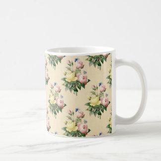 Floral vintage rose flower pattern mug