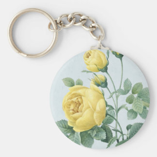 Floral vintage rose keychain beautiful and elegant