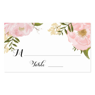 Floral Vintage Spring Wedding Escort Place Card Pack Of Standard Business Cards