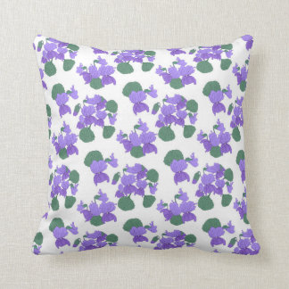 Floral viola pattern pillow