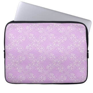 floral violet lace pattern laptop sleeve