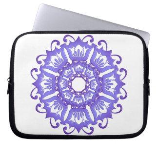 Floral violet mandala. laptop sleeve