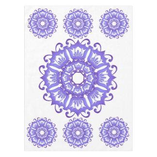 Floral violet mandala. tablecloth