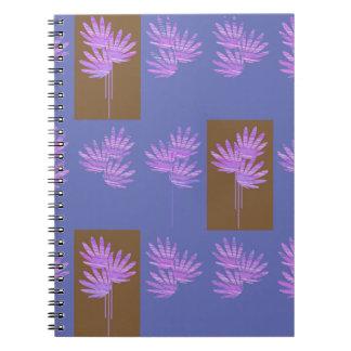 floral violet note books