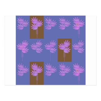floral violet postcard