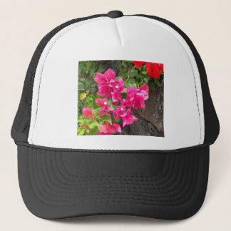 Floral Volcanic Lava Rock Trucker Hat