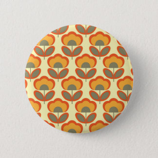Floral wallpaper 6 cm round badge