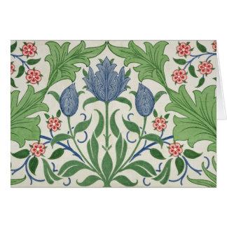 Floral wallpaper design card