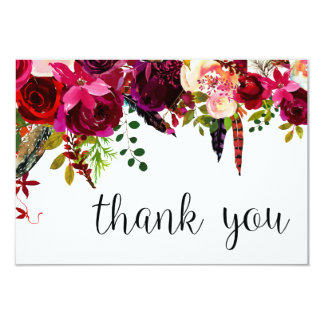 Floral Water Color Thank You Card
