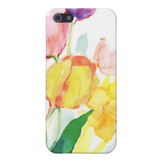 floral water color tulips iPhone 5 cover