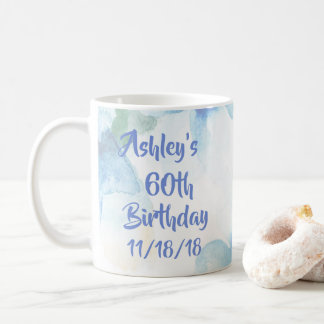 Floral Watercolor 60th Birthday Coffee Mug