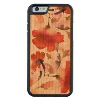 Floral watercolor Cherry iPhone 6 Bumper Case Carved® Cherry iPhone 6 Bumper Case