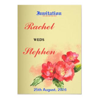 Floral Watercolor Custom Wedding Invitation