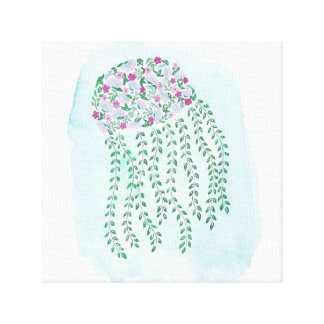 Floral Watercolor Jellyfish Wall Art
