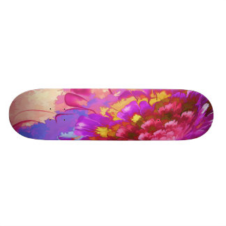 Hand Painted Skateboard Mona Lisa