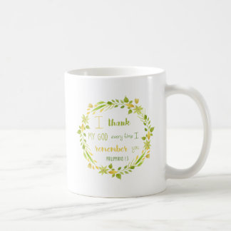 floral watercolor philippians bible coffee mug