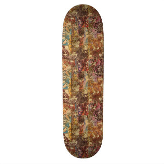 Floral Watercolor Skateboard