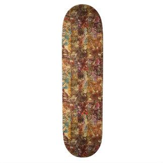Floral Watercolor Skateboard