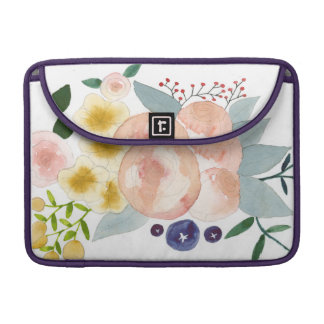 Floral Watercolor Sleeves For MacBook Pro