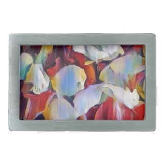 Floral watercolour arrangement rectangular belt buckles