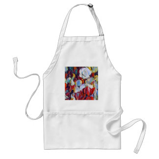Floral watercolour arrangement standard apron