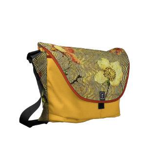 Floral Waves Messenger Bag