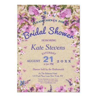 Floral wedding Bridal Shower Card