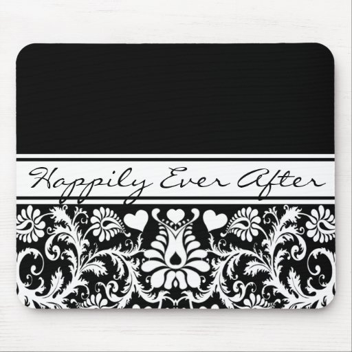 Floral Wedding Change to Any Color Mouse Mat