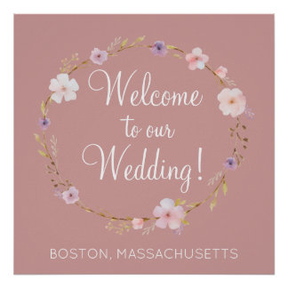 Floral Wedding Crown Poster