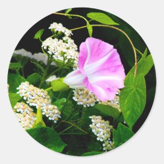 Floral Wedding Envelope Seal Sticker